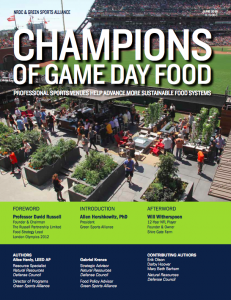 Food Report Cover