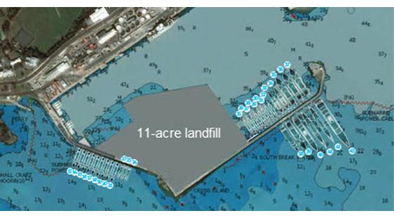 The proposed landfill in Bermuda will bury 11 acres of marine habitat and is known to support protected species including sea turtles, eagle rays and parrotfish.  Image credit: Sailing Scuttlebutt