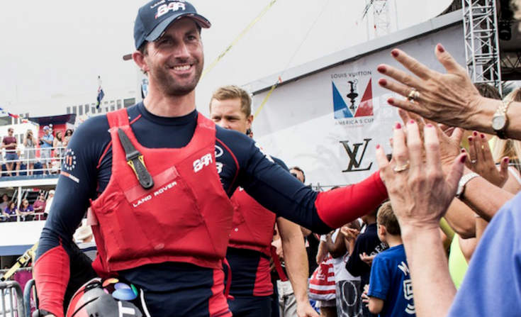 Sir Ben Ainslie leaving dock during Louis Vuitton America's Cup Series prep race in October in Bermuda. Photo credit: Lloyd Images