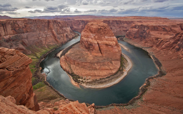 Horseshoe Bend of the Colorado River, seen here in 2008, is a focus of restoration efforts. Image Credit: Wikimedia Commons/Christian Mehlführer