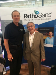 Rick Barry (l), PathoSans spokesperson, and Richard Kampas, PathoSans distributor. (Photo credit: Lewis Blaustein)