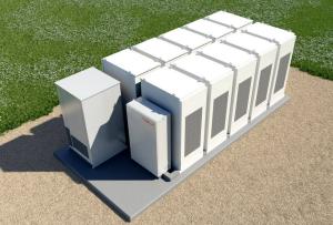 Tesla PowerPack battery-powered energy storage system, similar to the one installed at StubHub Center. (Photo credit: Tesla)