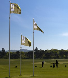GEO Certified flags flying on a GEO Certified Golf Course. (Photo credit: Golf Environment Organization)