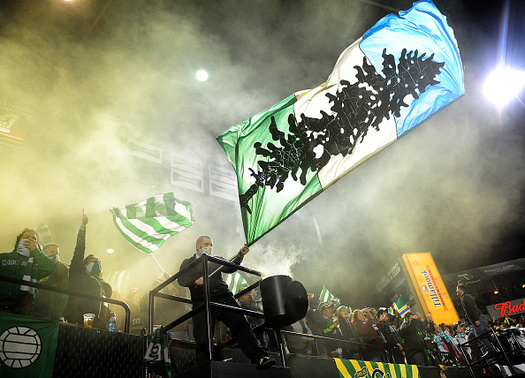 The Portland Timbers are a member of the Green Sports Alliance, which is helping teams, stadiums and fans go green. (Steve Dykes/Getty Images)