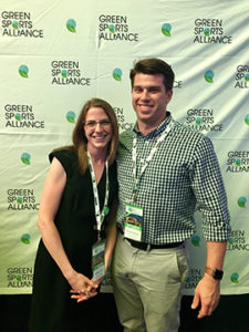 Lindsay Crum and Kevin Discepolo presented at the Green Sports Alliance Conference