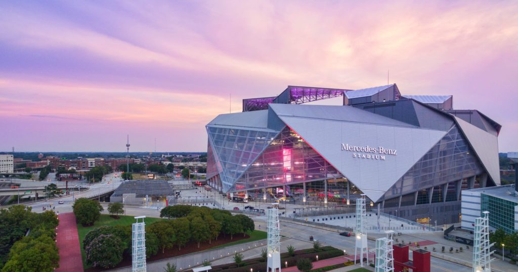 Mercedes-Benz Stadium_dusk_8_30_17