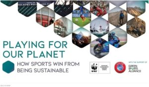 A report by UEFA and its associated social responsibility partner World Wide Fund for Nature (WWF) describes the way in which sport can contribute to sustainability, and examines the link between sport and environmental issues.