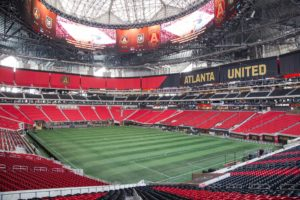 Mercedes-Benz Stadium in Atlanta is the first to win Leadership in Energy and Environmental Design Platinum certification for energy efficiency and sustainable design. Credit: Kevin D. Liles for The New York Times