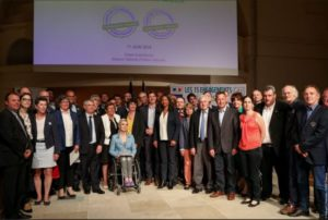 French sports minister Laura Flessel with all the signatories in Paris yesterday (11 June)