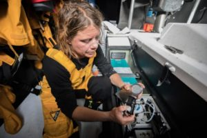 A sample is collected off the coast of Melbourne, Australia (Credit: Jeremie Lecaudey/Volvo Ocean Race)