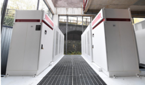 The Tesla storage system at Emirates Stadium in North London, home of Arsenal (Photo credit: David Price/Arsenal Football Club)