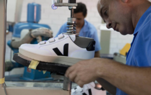 A Veja sneaker being manufactured in Brazil (Photo credit: Veja)