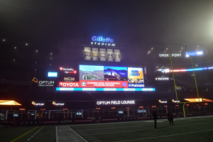 View from the field at Gillette Stadium during the Leading Edge Sustainable Stadium Design Conference (Photo credit: Excel Dryer)